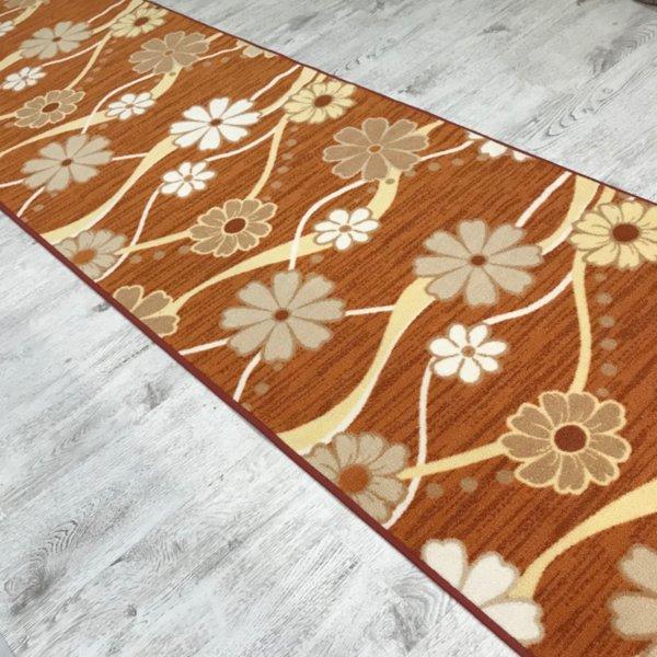 мокетена пътека цвете оранж